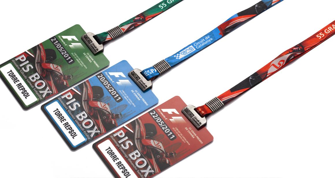 Event lanyards at Carlesmiro.com